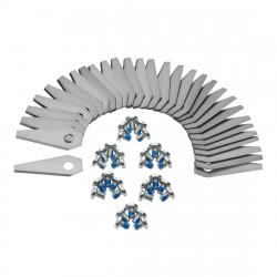 Bosch Indego knive til robotplæneklipper Rustfri 30 stk